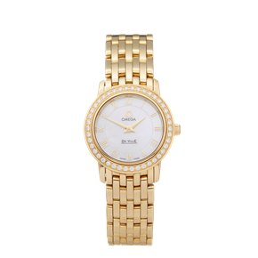 Omega De Ville Prestige Diamond 18k Yellow Gold - 417.57.100