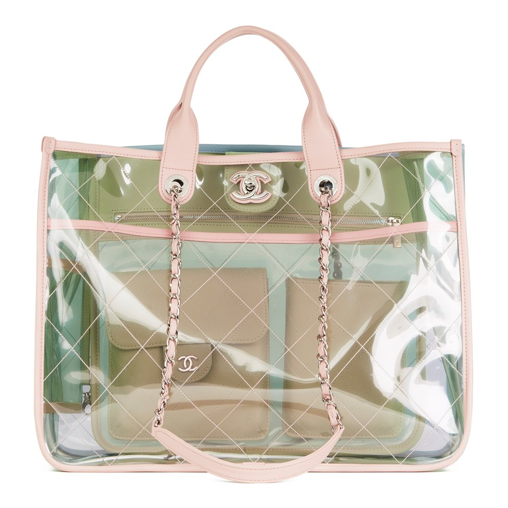 59604403e5dc4b Chanel Large Naked Shopping Tote 2018 HB2754 | Second Hand Handbags