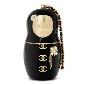 Chanel Black Plexiglass Paris-Moscou Matryoshka Doll Minaudiere