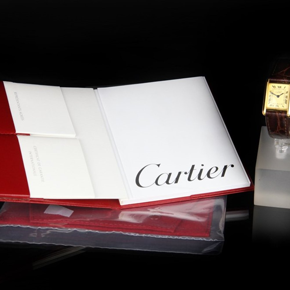 Cartier Must De Cartier 18k Yellow Gold Plated 925 Sterling Silver 1613