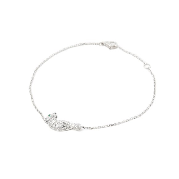 Cartier 18k White Gold Diamond Panthère Bracelet