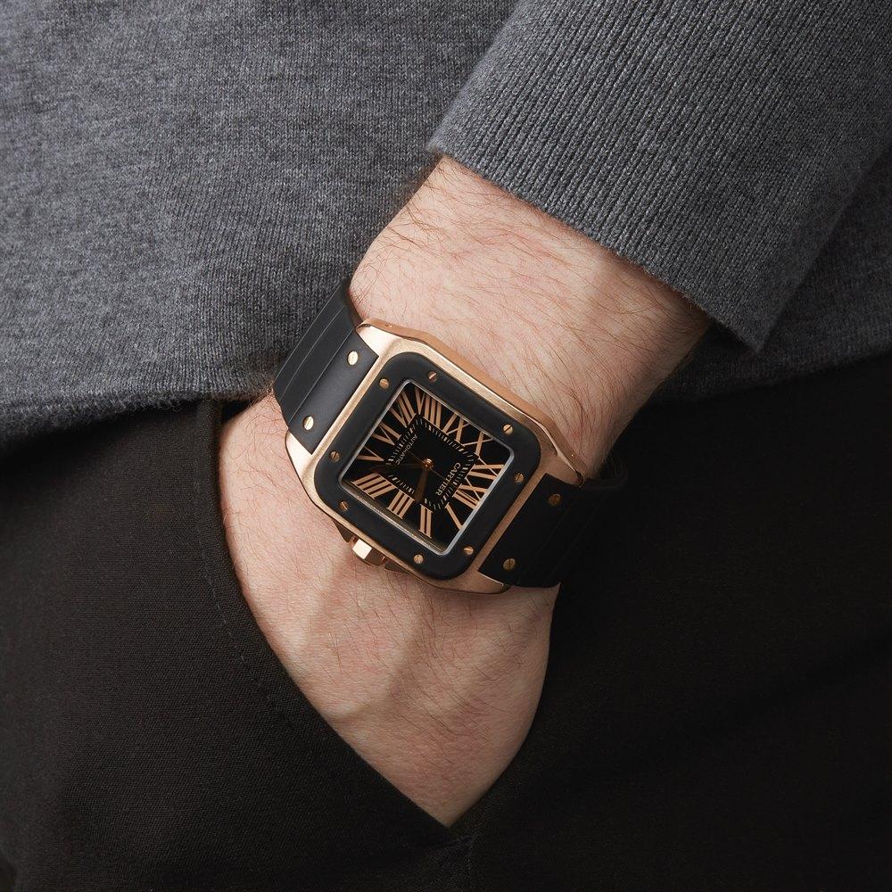 Cartier Santos 100 XL 18k Rose Gold W20124U2 or 2792