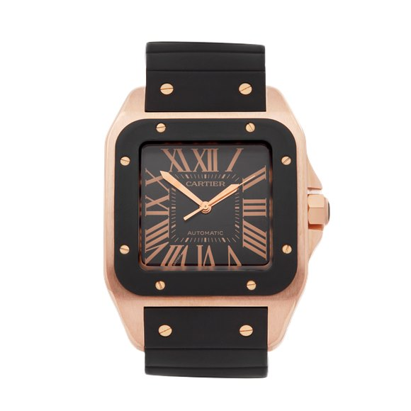Cartier Santos 100 XL 18k Rose Gold - W20124U2 or 2792