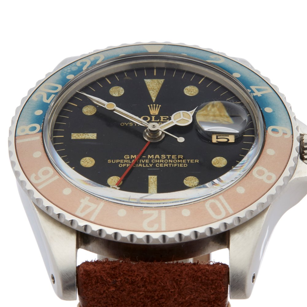 Rolex GMT-Master Pepsi Gilt Gloss Small Gmt Hand Underline Radial Stainless Steel 1675