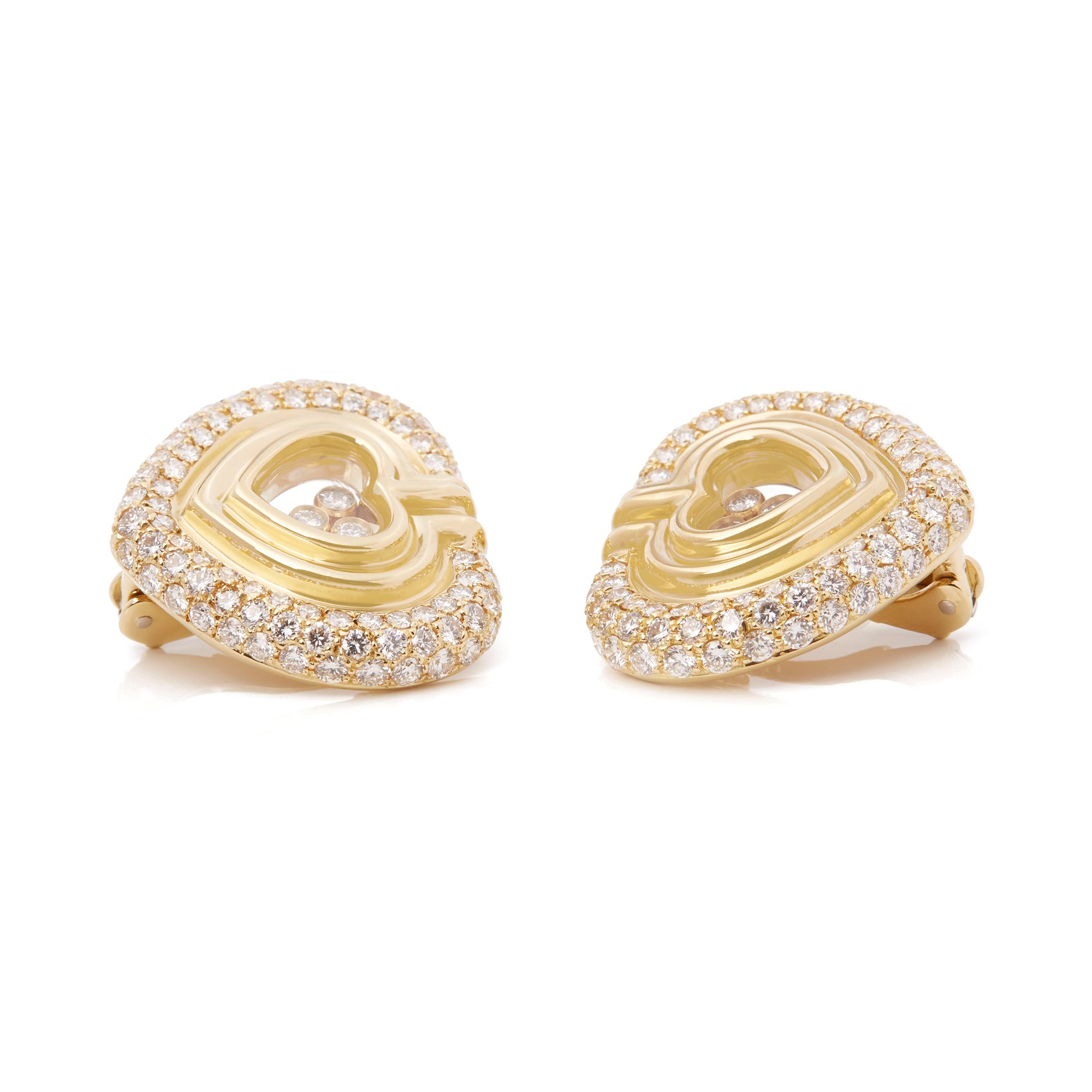 Chopard 18k Yellow Gold Happy Diamonds Earrings