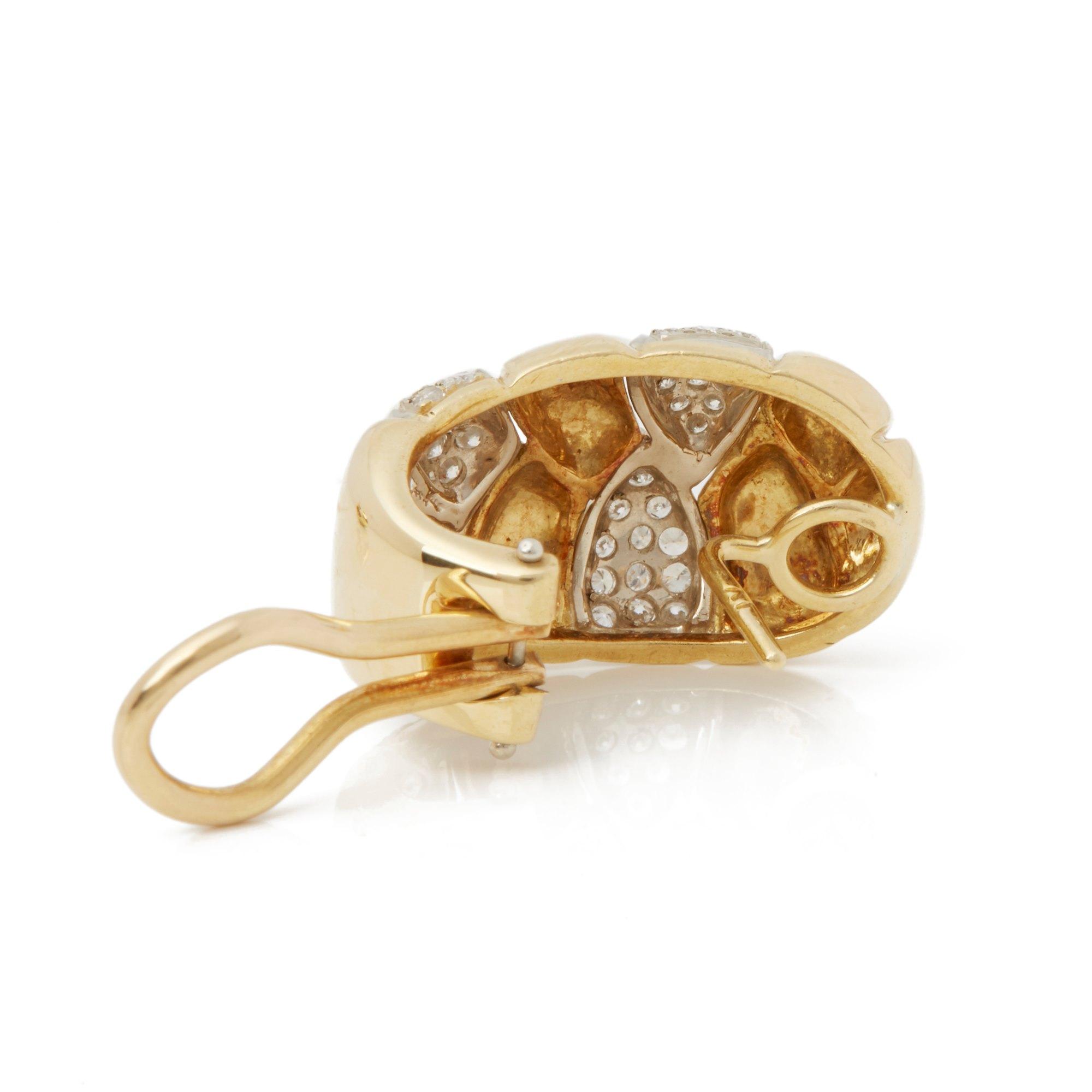 Cartier 18k Yellow Gold Diamond Vintage Earrings