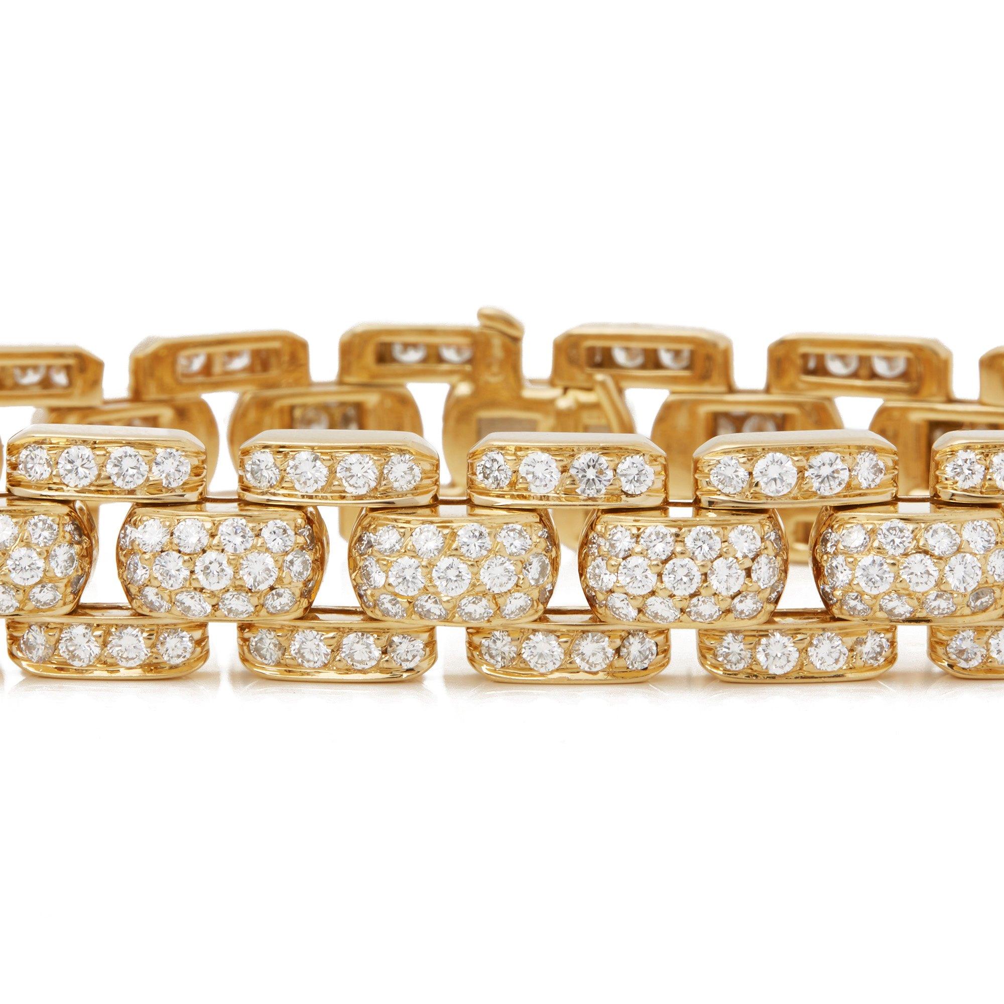 Cartier 18k Yellow Gold Diamond Link Bracelet