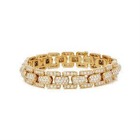 Cartier 18k Yellow Gold Diamond Link Bracelet
