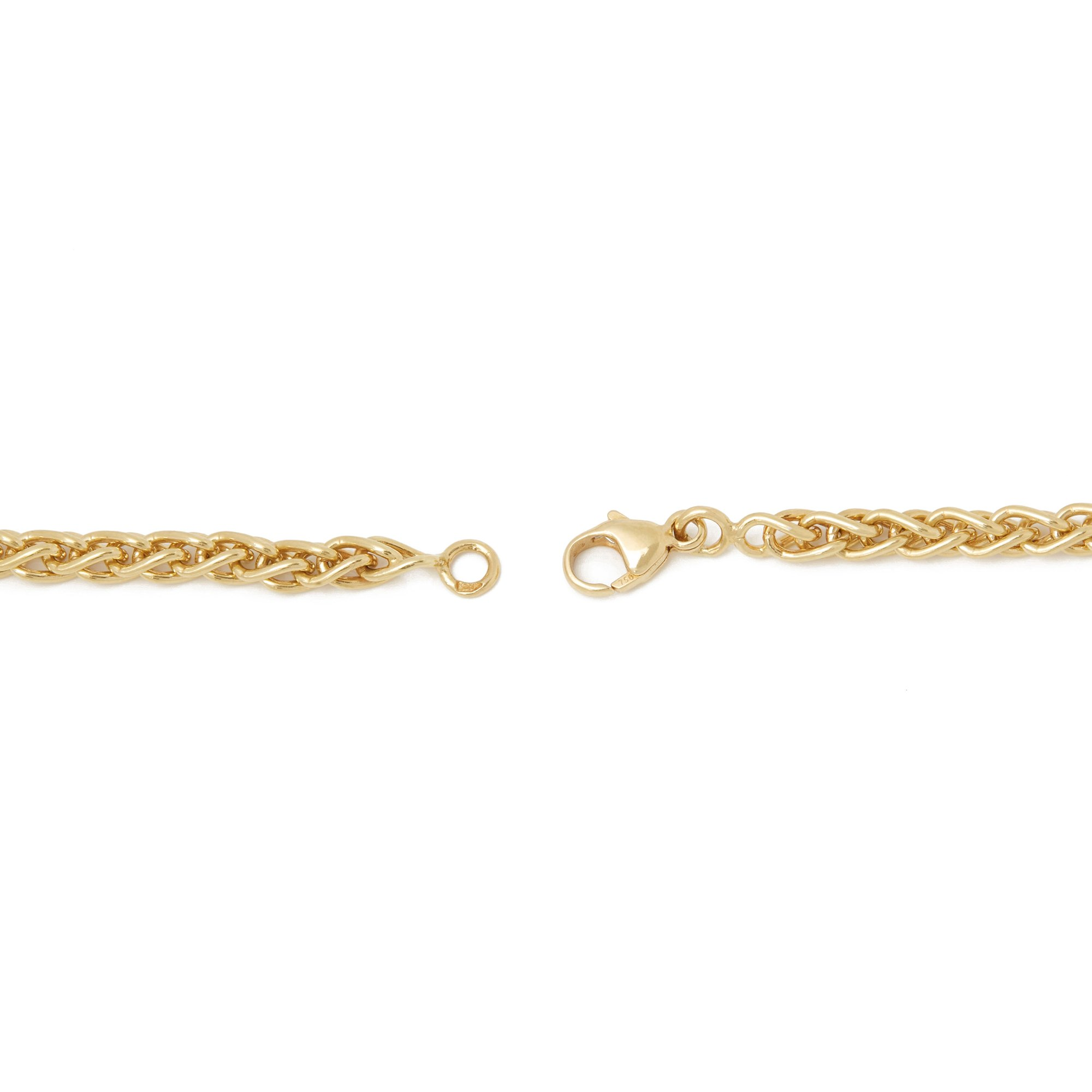 Boodles 18k Yellow Gold Diamond Hug Necklace