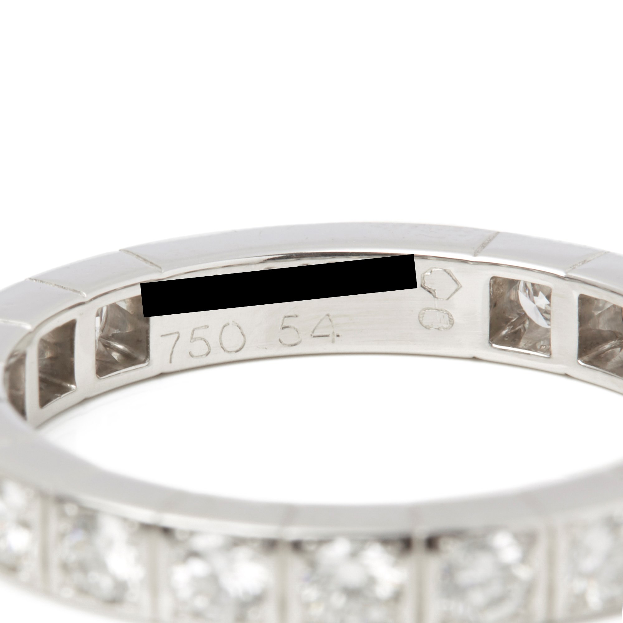 Cartier 18k White Gold Diamond Lanieres Ring