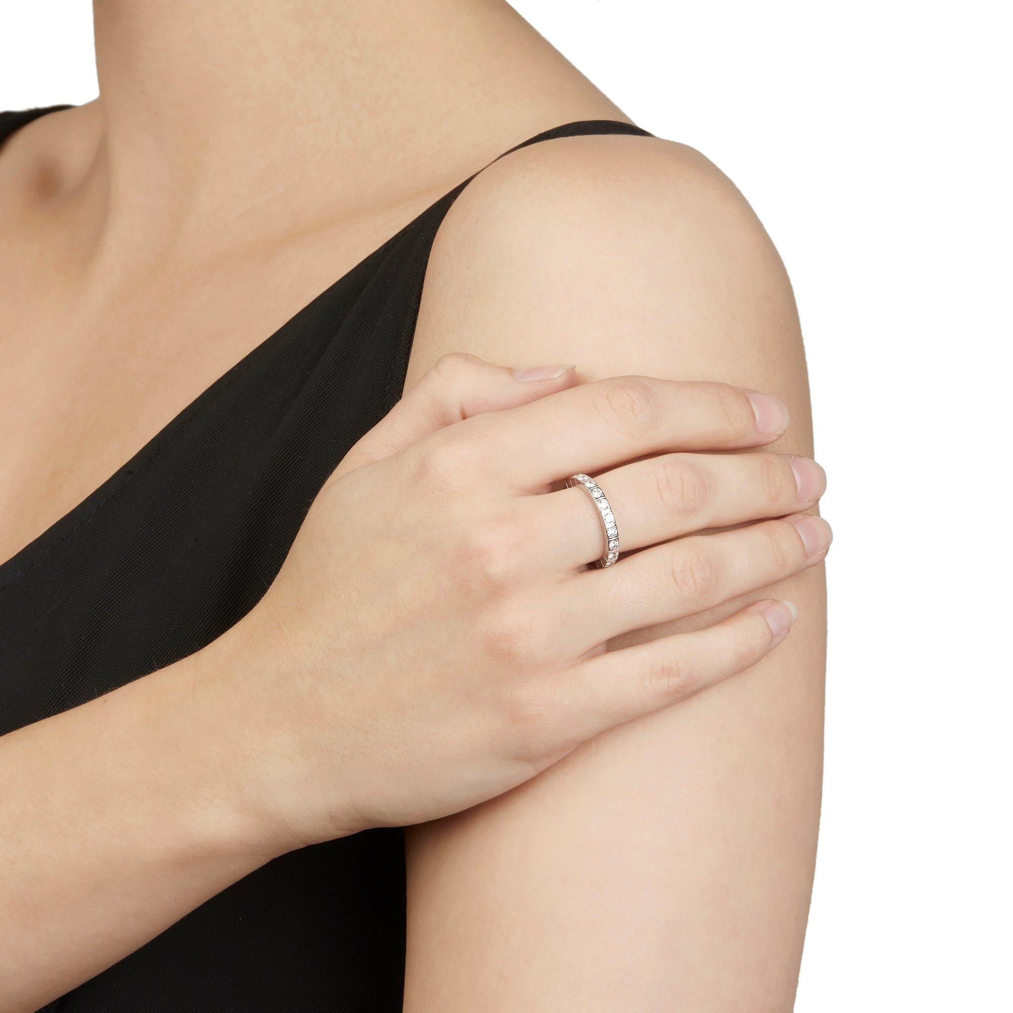 Cartier 18k White Gold Diamond Lanieres Ring