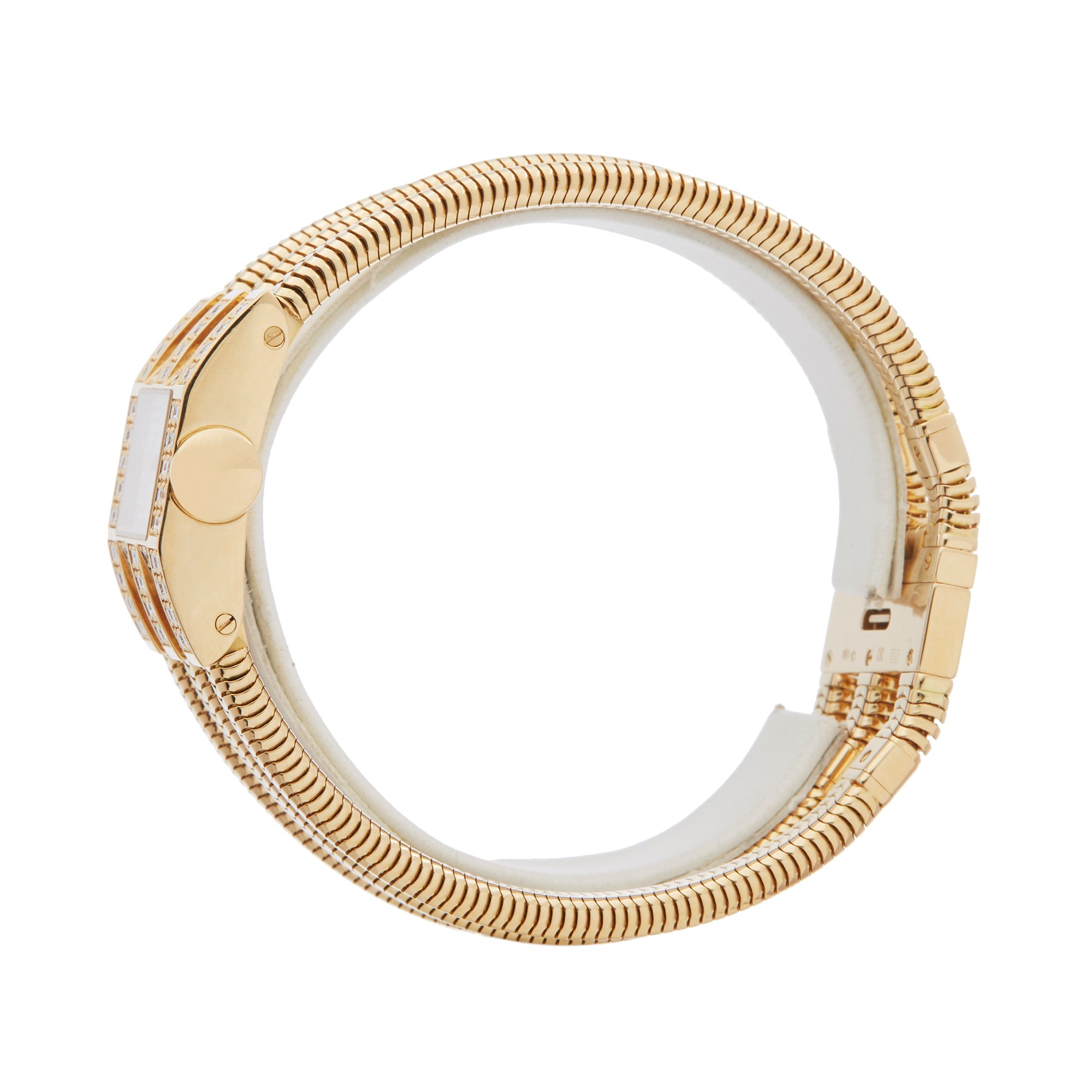 Van Cleef & Arpels Triple Bracelet Diamond Geel Goud
