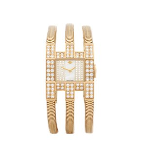 Van Cleef & Arpels Triple Bracelet Diamond Yellow Gold