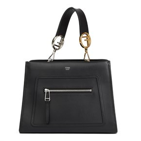 Fendi Black Calfskin Leather Small Runaway