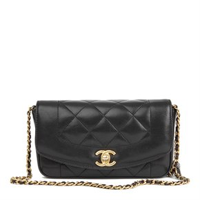 Chanel Black Quilted Lambskin Mini Reissue Diana Classic Single Flap Bag