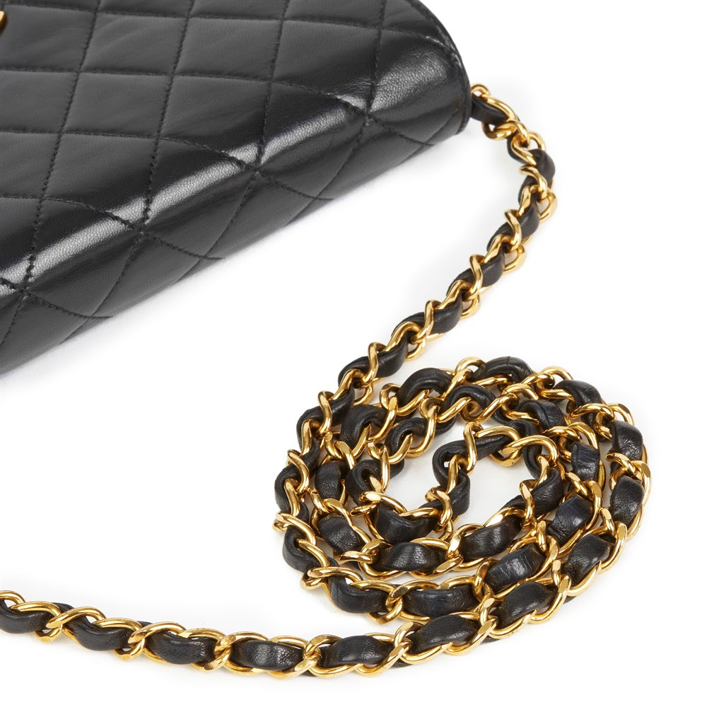 Chanel Black Quilted Lambskin Vintage Mini Flap Bag