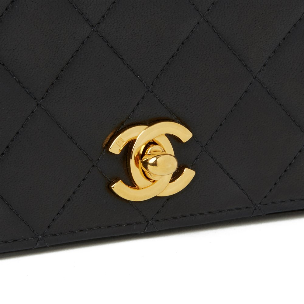 Chanel Black Quilted Lambskin Mini Flap Bag