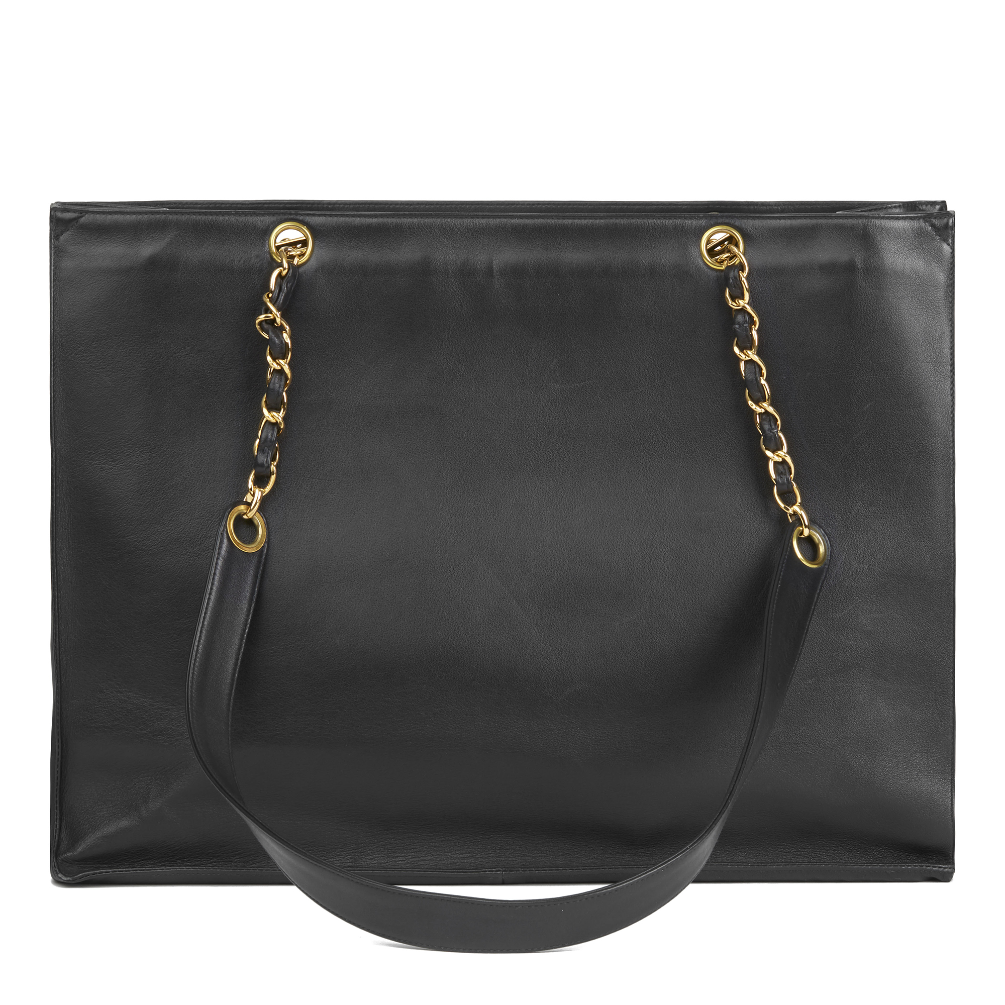 64c1cf805 Details about CHANEL BLACK LAMBSKIN VINTAGE JUMBO XL TIMELESS SHOPPING TOTE  HB2787