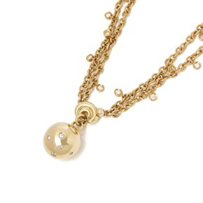 De Grisogono 18k Yellow Gold Diamond Boule Pendant Necklace