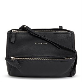 Givenchy Black Goatskin Leather Pandora Crossbody