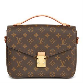 Louis Vuitton Brown Monogram Coated Canvas Pochette Metis