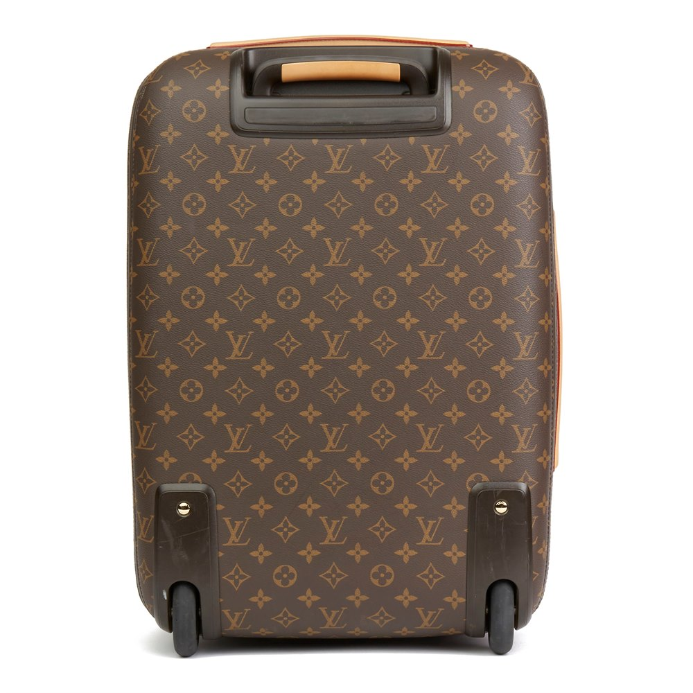 3b3ce93a3 Louis Vuitton Brown Monogram Sugar Pink Poppy Jungle Coated Canvas Pégase  Légère 55
