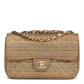 Chanel Multicolour Metallic Sheepskin Classic Single Flap Bag