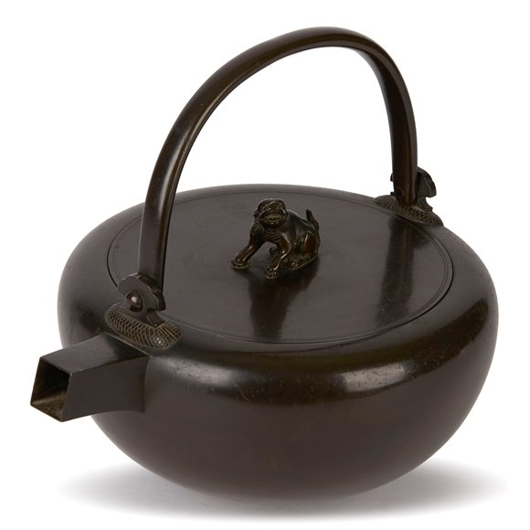 ANTIQUE JAPANESE BRONZE KETTLE 19/20TH C.