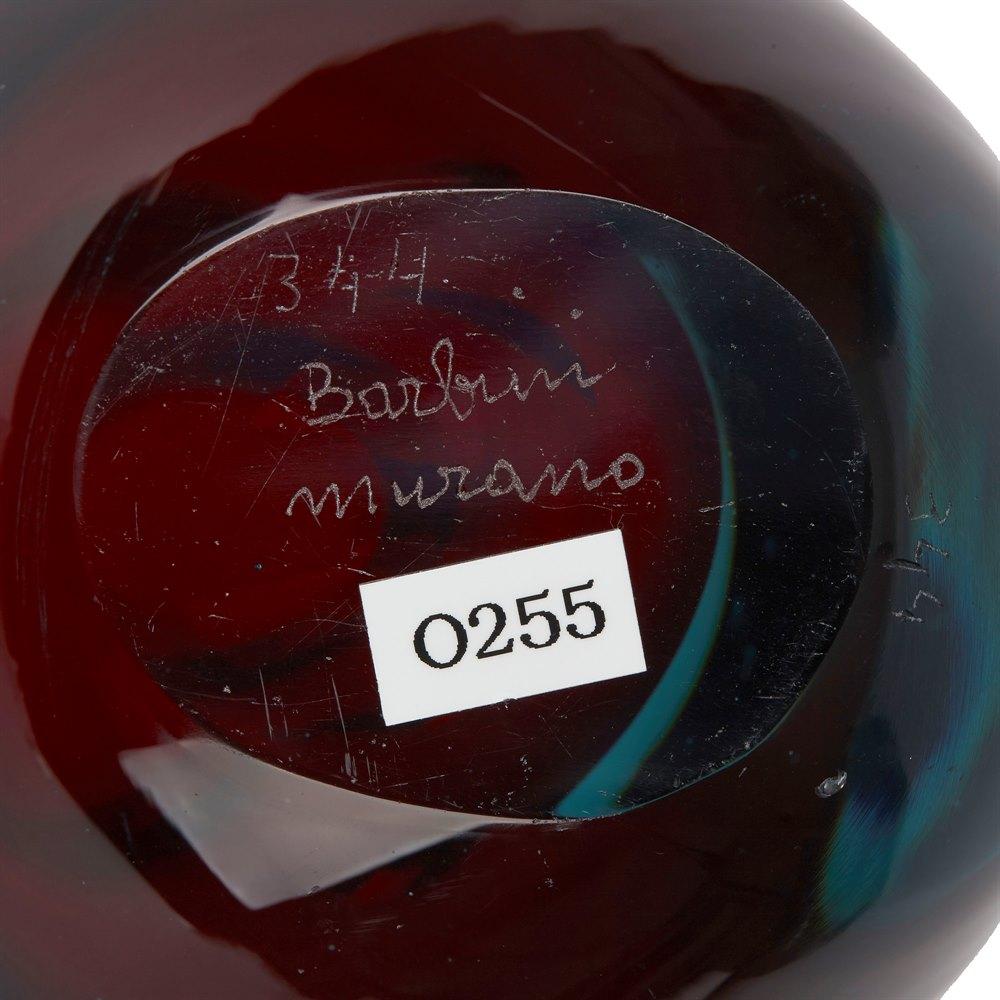 VINTAGE MURANO SOMMERSO GLASS BOWL BY ALFREDO BARBINI c1970 Circa 1970