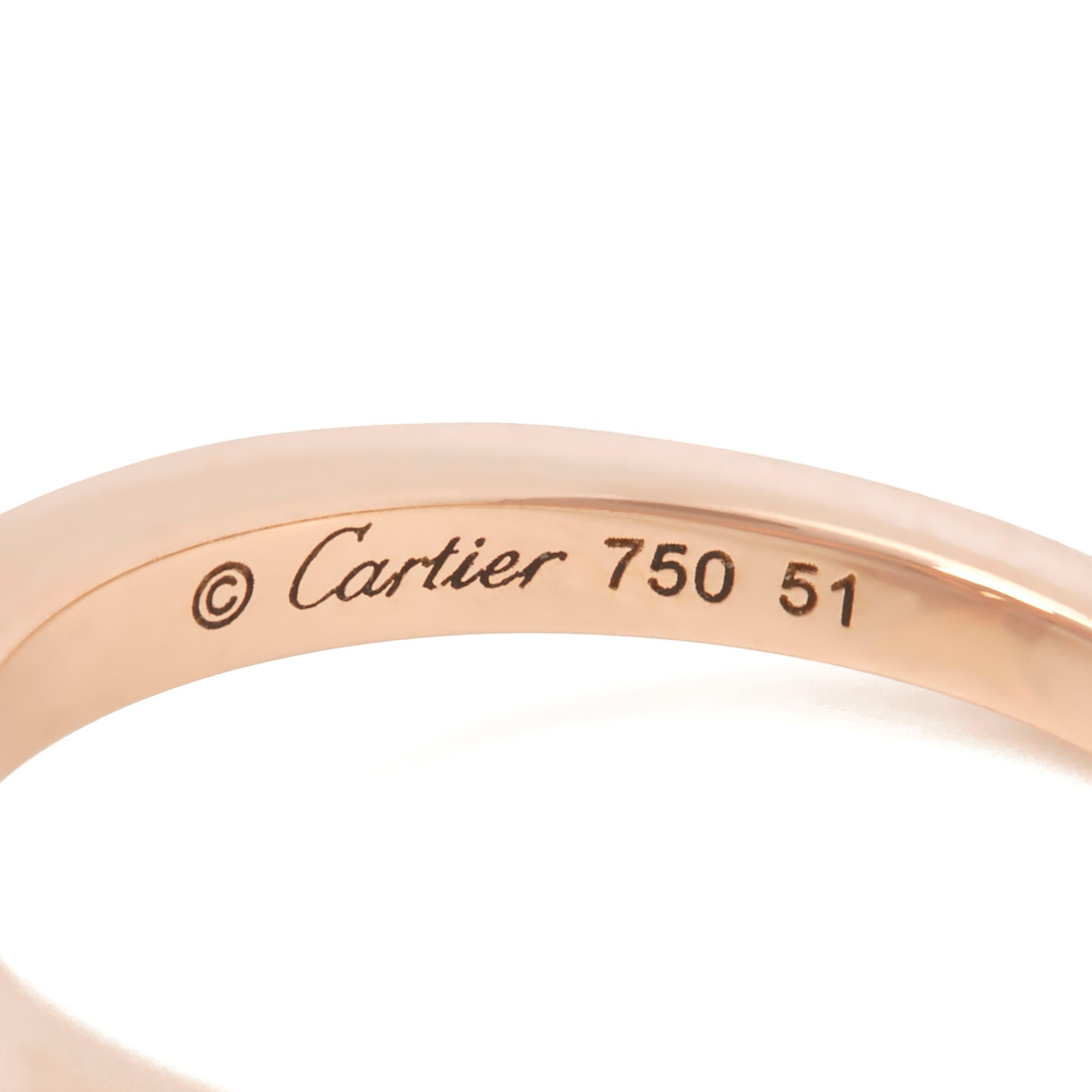 Cartier 18k Rose Gold Smoky Quartz Lotus Ring