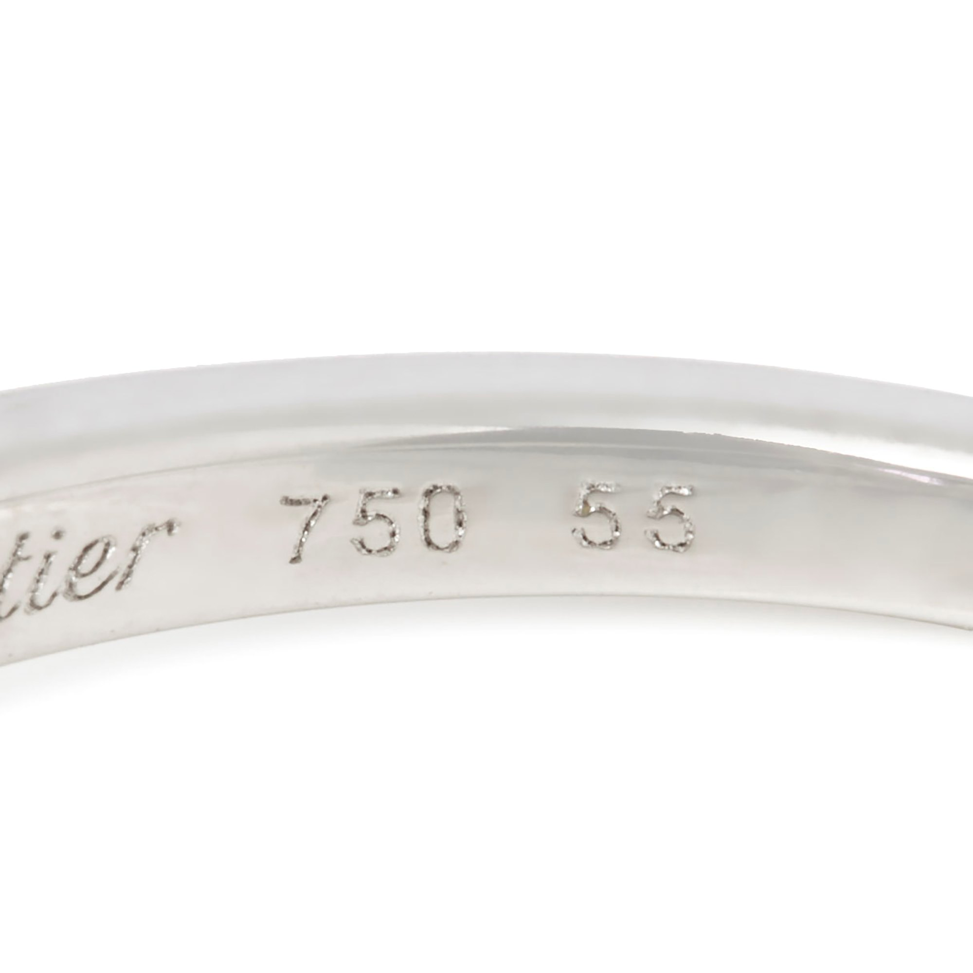 Cartier 18k White Gold Amethyst Lotus Ring