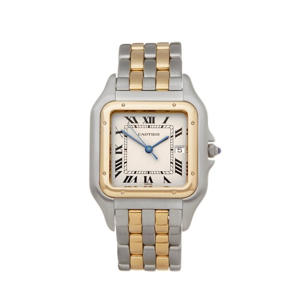 Cartier Panthère Two Row Stainless Steel & Yellow Gold - 187957 or 0194