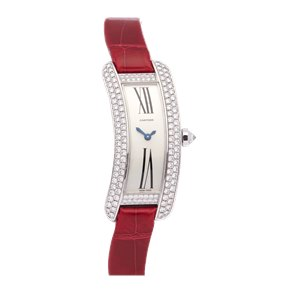 Cartier Tank Americaine Curved Tank S Diamond White Gold - WJ300950 or 2625