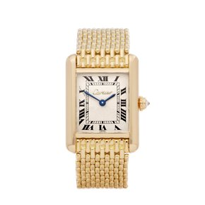 Cartier Tank Paris Diamond Yellow Gold