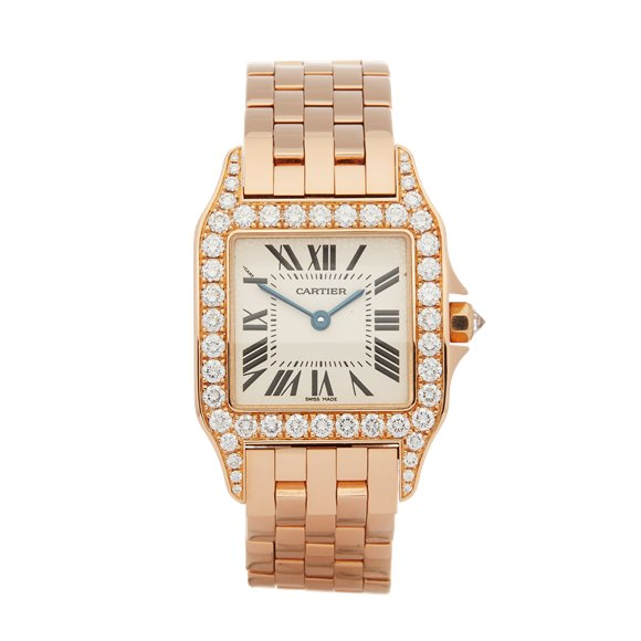 Cartier Santos Demoiselle Diamond 18k Rose Gold - WF9007Z8