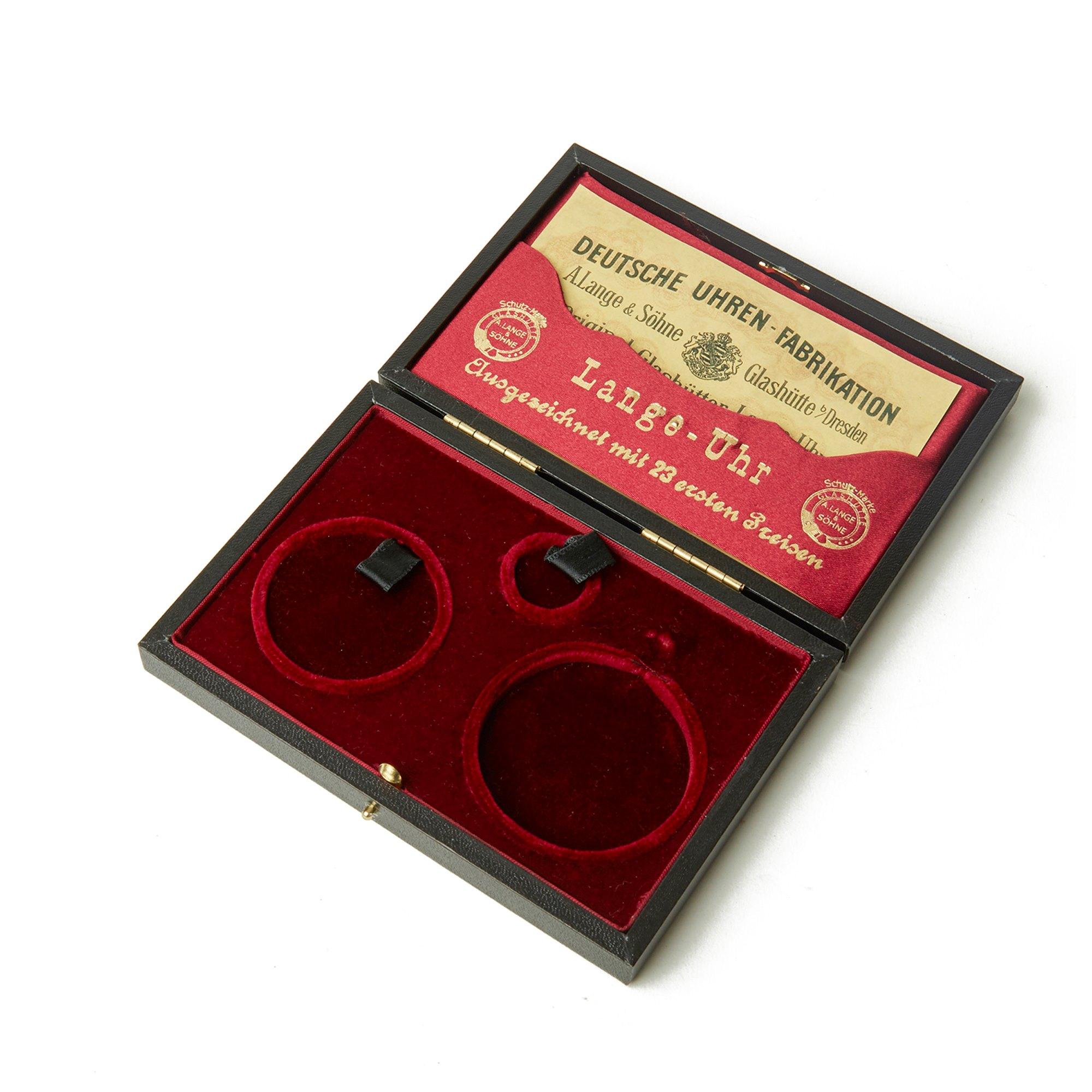 A. Lange & Söhne Pocket Watch Half Hunter Case Yellow Gold Calibre 43