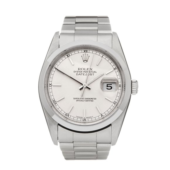 Rolex DateJust 36 Stainless Steel - 16200