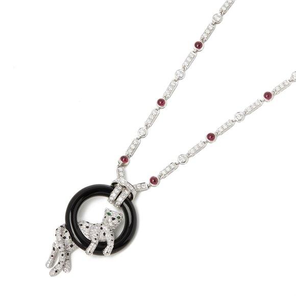 Cartier Platinum Ruby & Diamond Panthère Necklace