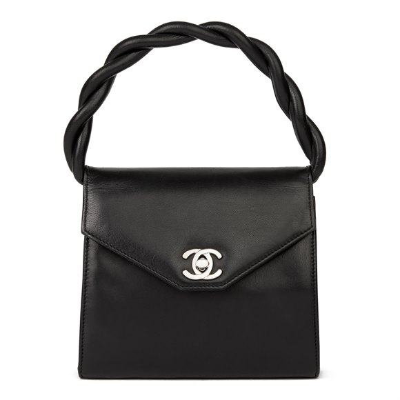Chanel Black Lambskin Vintage Mini Classic Kelly