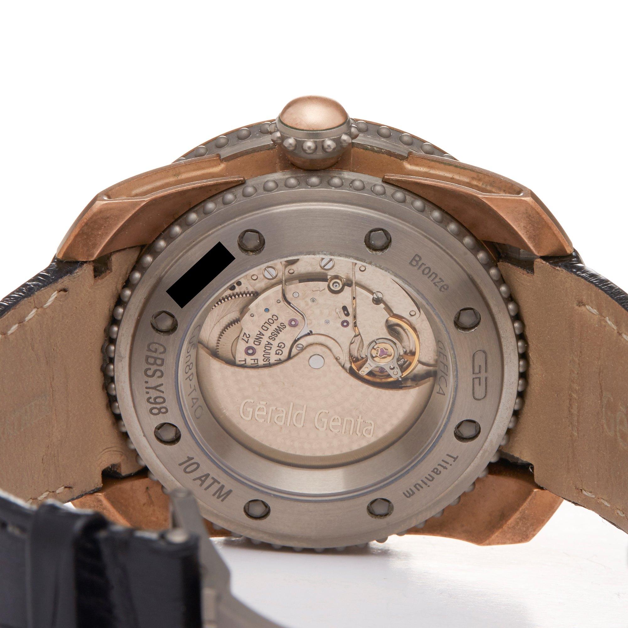 Gerald Genta Gefica Bronze Bronze GBS.Y.98