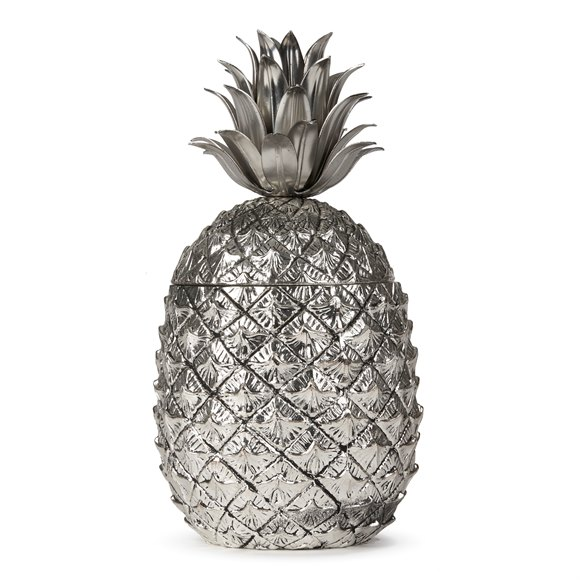 ITALIAN MAURO MANETTI METAL CLAD PINEAPPLE ICE BUCKET c1970