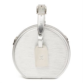 Louis Vuitton Silver Metallic Epi Leather Petite Boite Chapeau