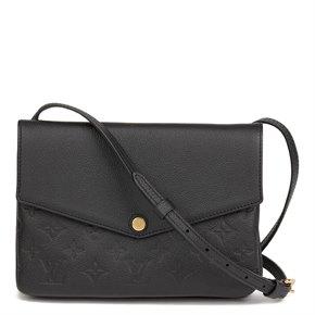 Louis Vuitton Black Monogram Empreinte Leather Twinset