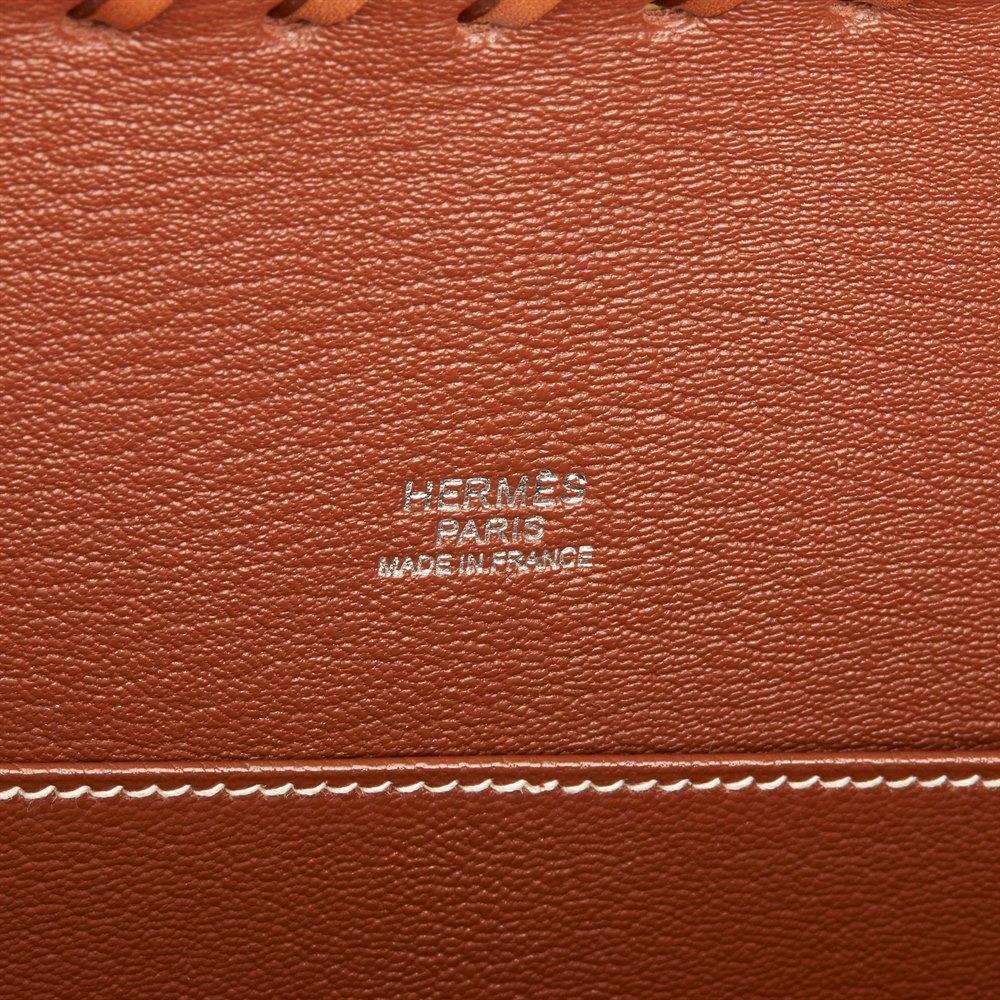 Hermès Barenia Leather & Wicker Kelly 35cm Picnic