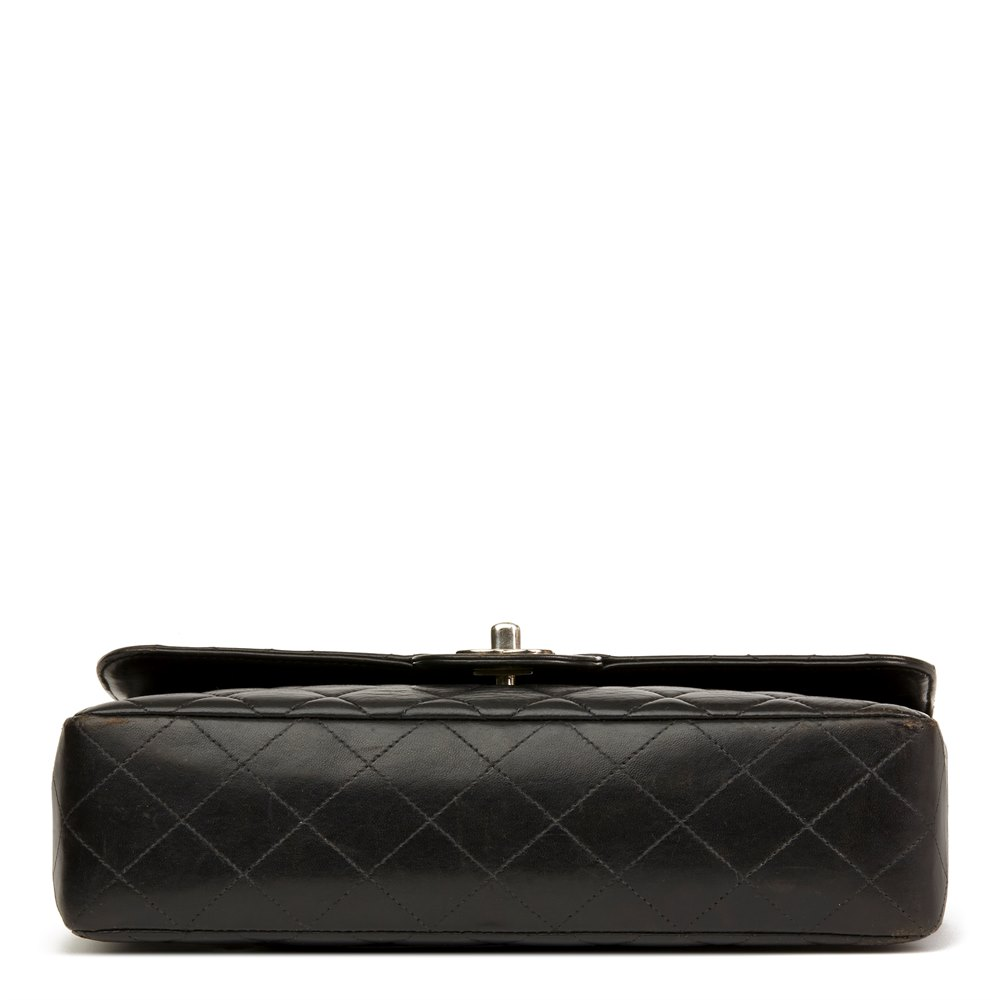 Chanel Black Quilted Lambskin Vintage Medium Classic Kelly Flap Bag