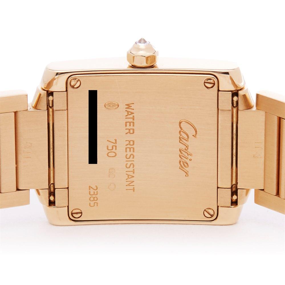 Cartier Tank Francaise Diamond 18k Yellow Gold 2385
