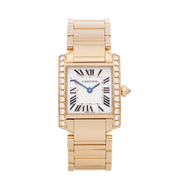 Cartier Tank Francaise Diamond 18k Yellow Gold - 2385
