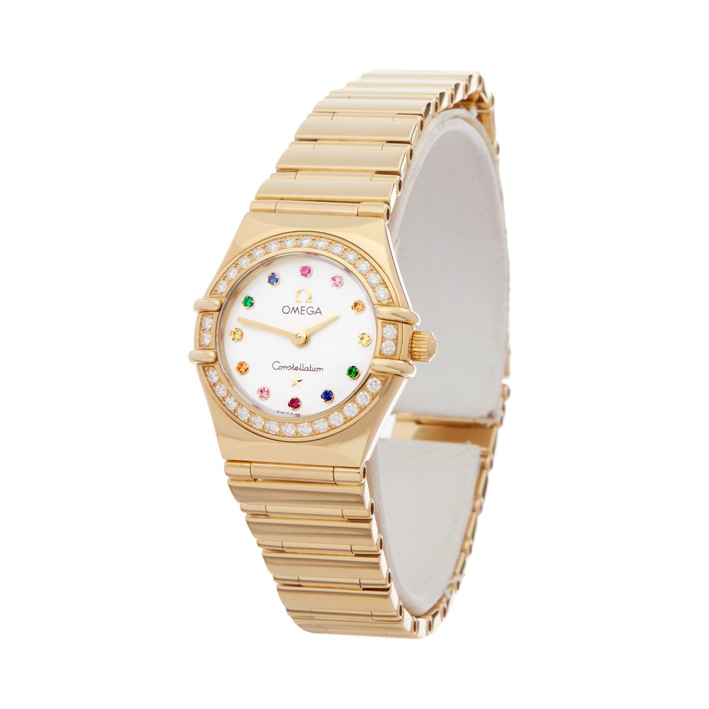 Omega Constellation Mother Of Pearl Diamond 18k Yellow Gold 116.47.900