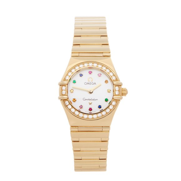 Omega Constellation Mother of Pearl Diamond 18k Yellow Gold - 11647900