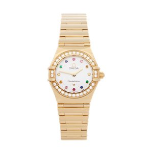 Omega Constellation Mother Of Pearl Diamond 18k Yellow Gold - 116.47.900